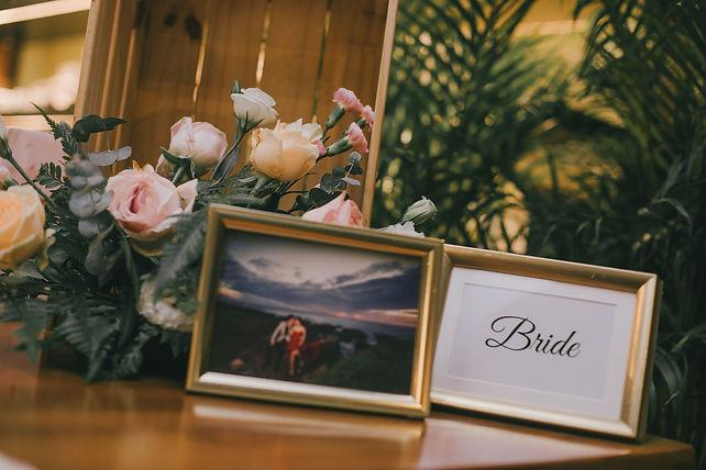 Bride album table