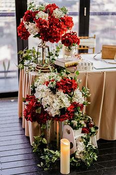 Album corner floral decoration