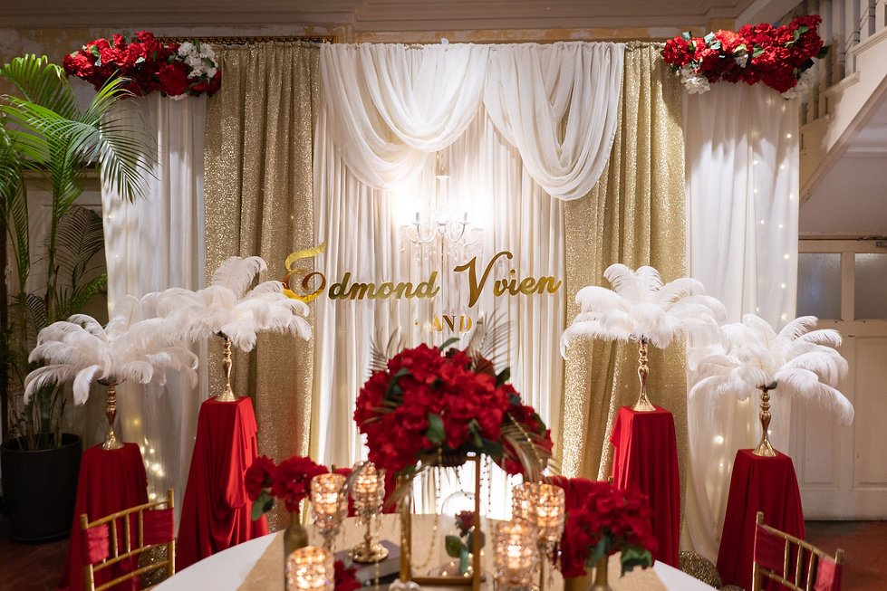 VIP table and stage backdrop decoration
