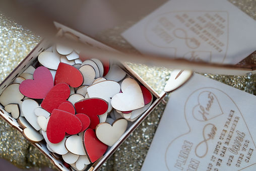 Heart-shaped guest book signature