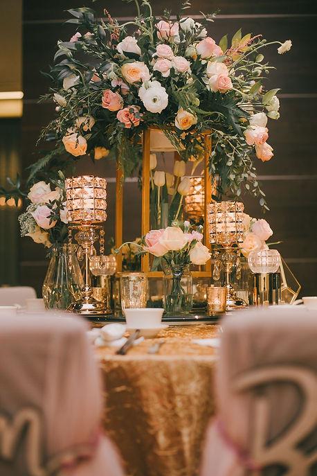 VIP table decoration