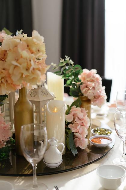 VIP table decoraiton
