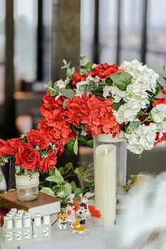 Album corner flower bouquet