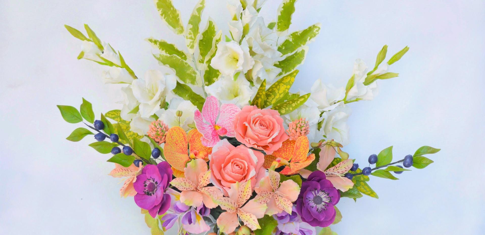 Gumpaste flower arrnagement