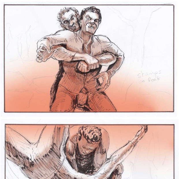 Storyboard for short films about medieval combat, Chi Mei Culture Foundation, Taiwan, 2013