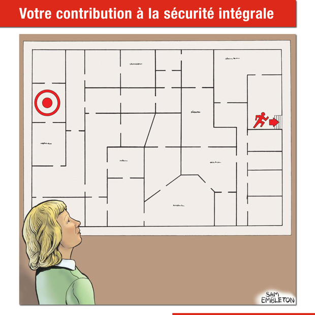Know your exit routes! Swiss department of defence, 2015