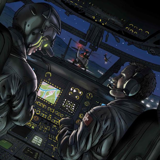 Swiss air force magazine illustration, 2020