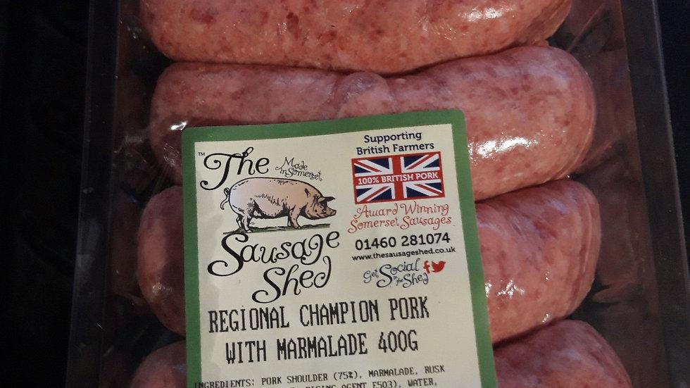 Pork sausage with marmalade