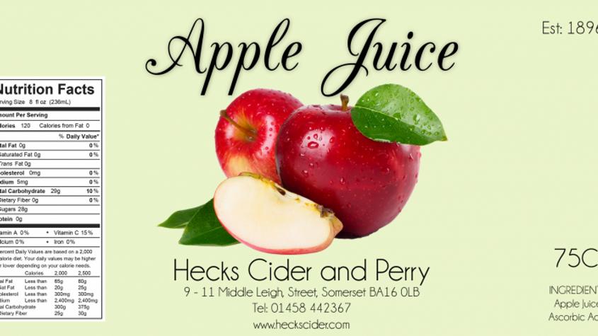 Hecks specialist apple juice various.