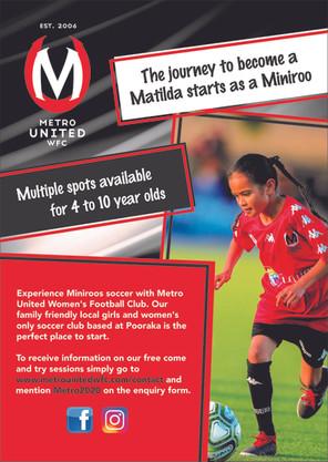 Miniroos Football at Metro!