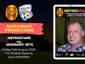 Matchday Program | MetroStars vs. Modbury Jets