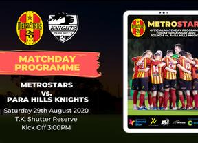 Matchday Program | MetroStars vs. Para Hills Knights