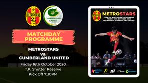 Matchday Program | MetroStars vs. Cumberland United