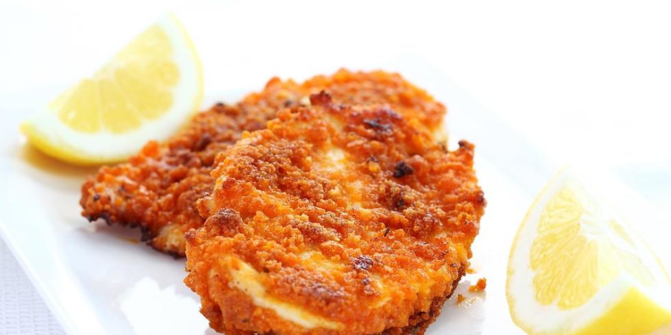 Dinner With The Stars - Chicken Schnitzel
