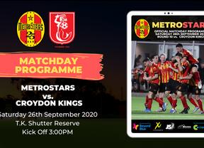 Matchday Program   MetroStars vs. Croydon Kings