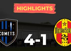 HIGHLIGHTS: Adelaide Comets 4-1 MetroStars