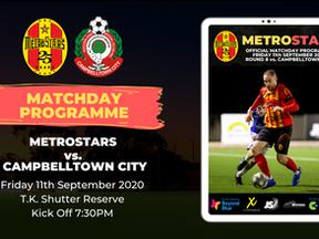 Matchday Program | MetroStars vs. Campbelltown City