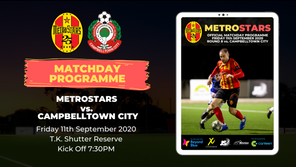 Matchday Program | MetroStars vs. Campbelltown City