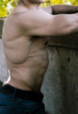 Naked torso. Muscles. Bodybuilder. Naked men.