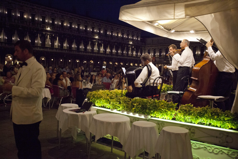 Musicians in P. San Marco, Venice.