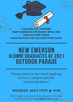 New Emerson 2021 Alumni Graduate Parade