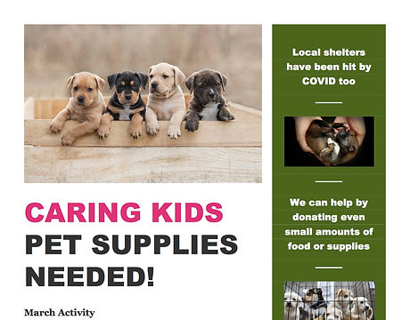 Animal supplies drive for March.jpg
