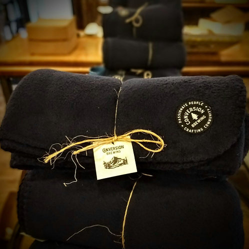 Navy Blue Fleece Blanket