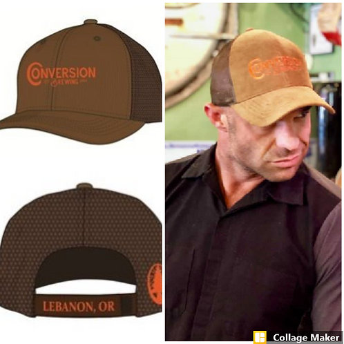 Conversion Brewing Corduroy Truckers hat,