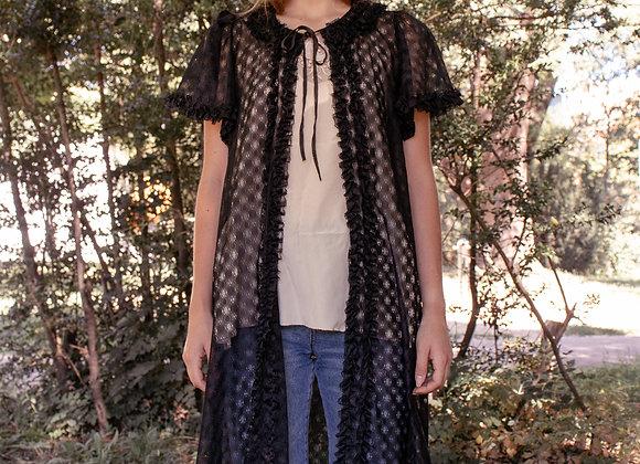 Vintage bohemian lace kimono