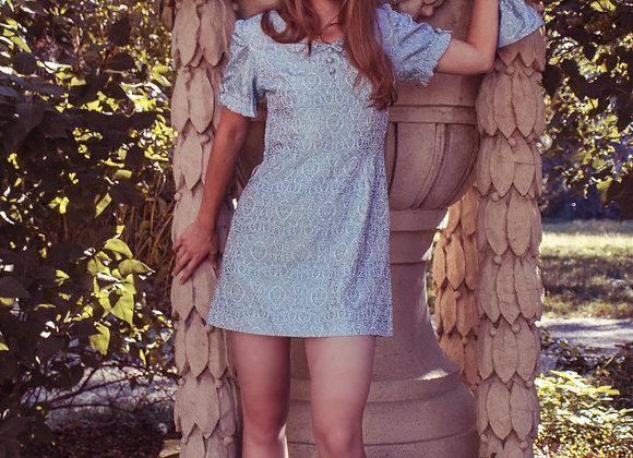 Jane Birkin brocade mini dress