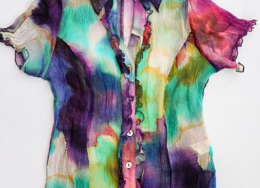 Watercolour sheer blouse