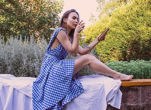 Florence dress I. - blue gingham