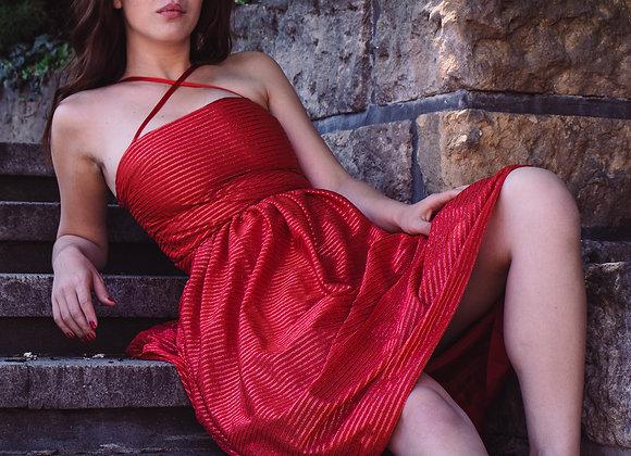 70s retro red skirt & top set