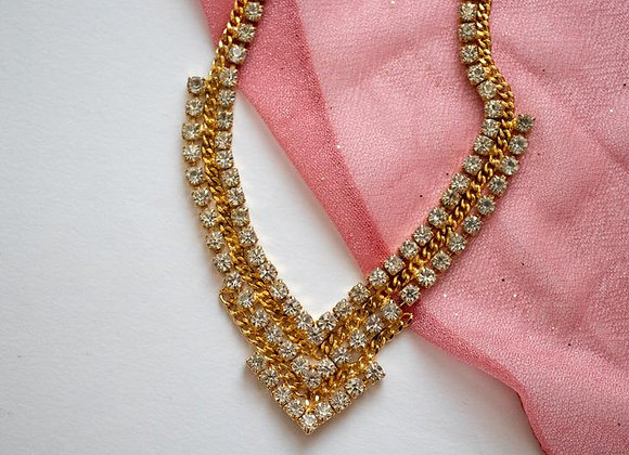 Beautiful costume jewellery statement necklace from the 70s