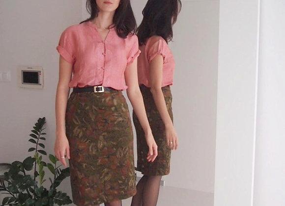 Moss green Garry Weber skirt with velvet feel
