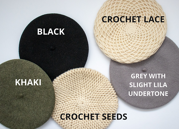 Selection of vintage berets