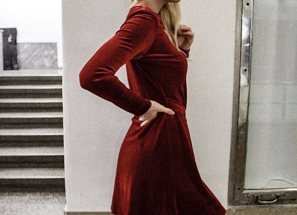 Vintage red velvet dress