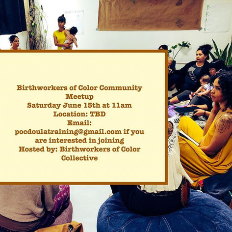 Join us at our first public meeting of the year for Birth Workers of Color. Meet and network with other Birth workers of Color, share space, and be in community! We will break bread together, with food & tea! There will be a clothing swap, please feel free to spring clean your closets and bring items to swap! Email us at pocdoulatraining@gmail.com if you are interested in joining us. Looking forward to building and being in community✨#lbdoulasofcolor #doulasofcolor #doula #birthworkersofcolor #birthwork #birthworkers #longbeach #collectivecare #communitycare #doula #doulas #birth #healers #collaborationnotcompetition #buildcommunity #birthworkersofcolorcollective