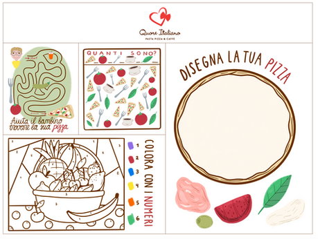 Kids illustrated tablemats