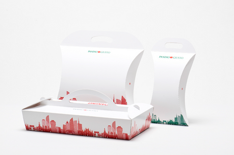 Delivery panini packaging