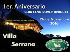 1er. Aniversario del Club Land Rover Uruguay