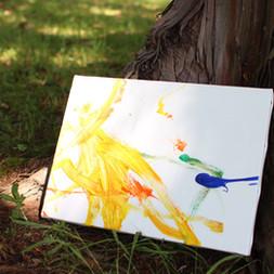 Kids outdoor art