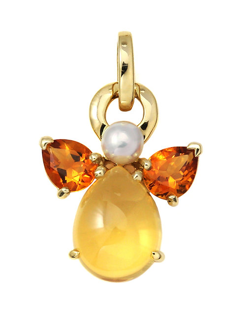 Pendant Ange Citrine by Isabelle Langlois