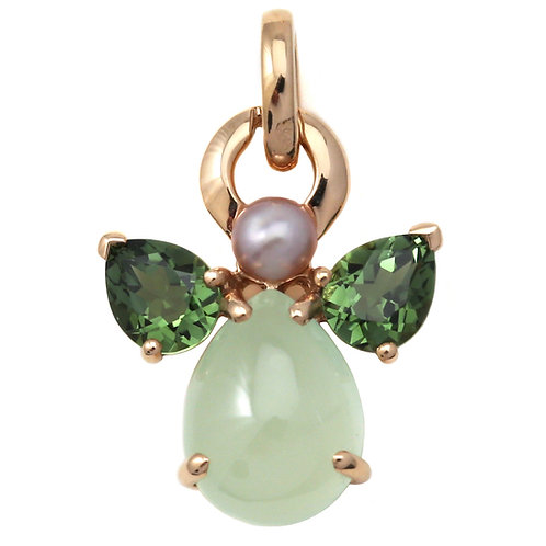 Pendant Ange Green Calcite by Isabelle Langlois