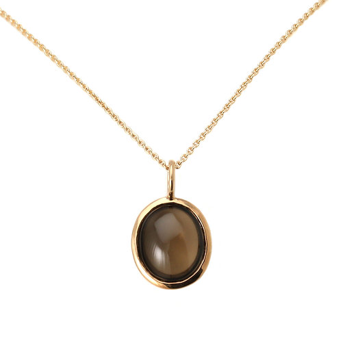 Necklace Galet Smoky Quartz by Isabelle Langlois