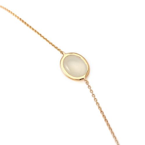 Bracelet Galet Moonstone by Isabelle Langlois