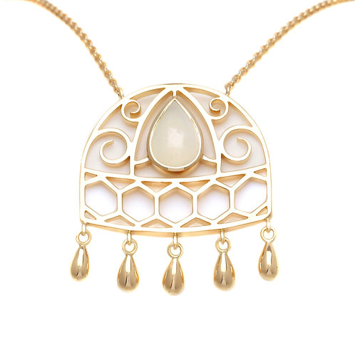 Necklace Union Moonstone by Sophie Rinieri