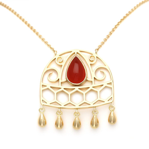 Necklace Union Carnelian by Sophie Rinieri