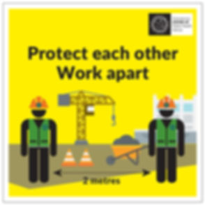 Coronavirus Protect Each Other Work Apar