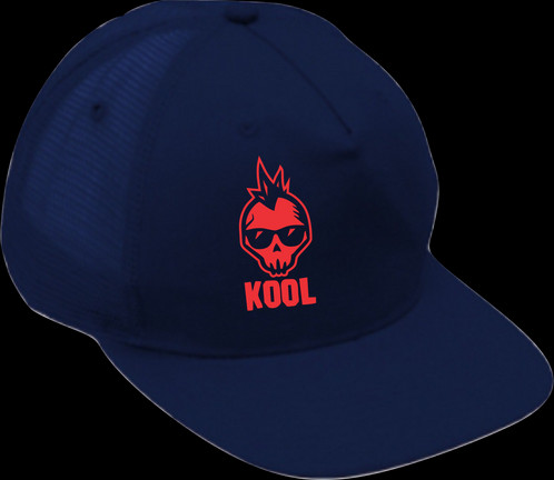 5f8cc42d0a5 Trucker Cap Blue   red Skull.   16.50. Acrylic Mesh 5 panel structured. A-Frame  Flat peak